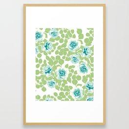 rose garden green Framed Art Print