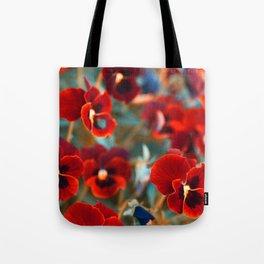 Red violas Tote Bag