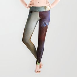 Cow's couple watercolor painting  Leggings