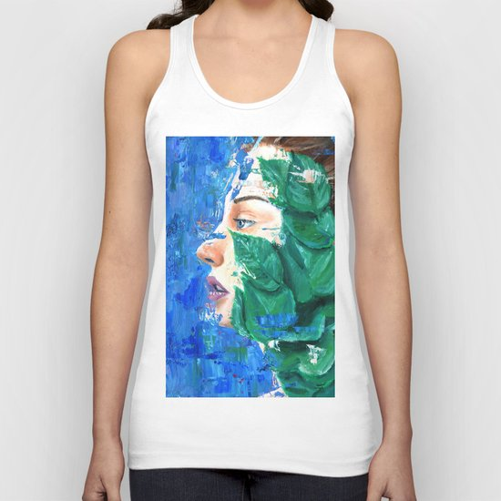 Leaves and face Unisex Tank Top