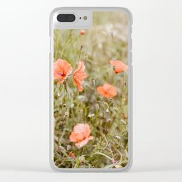 Poppy Seeds Clear iPhone Case