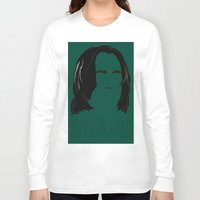 snape Long Sleeve T-shirts featuring Snape and you by Ally Simmons