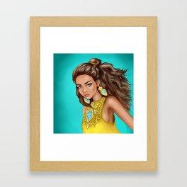 Kazakh girl Framed Art Print