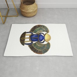 Painted Egyptian Necklace Rug