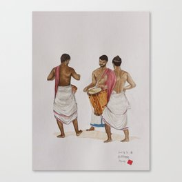 drum players in Allephey Canvas Print