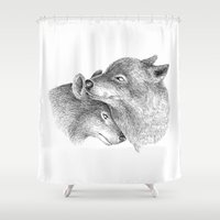 wolves Shower Curtains featuring WOLVES by Thiago Bianchini