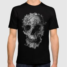 Skull 2 / BW SMALL Black Mens Fitted Tee
