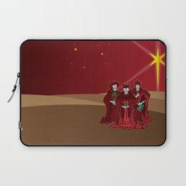 Three Wise Skulls Laptop Sleeve