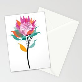 Protea Illustration; Botanical; Australian Native Stationery Cards