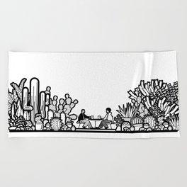 Chai and Cacti II Beach Towel