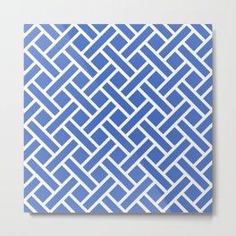 Geometric Trellis Weave Pattern 141 Metal Print