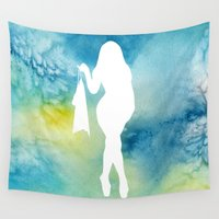sexy Wall Tapestries featuring Sexy by Cs025