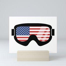 USA Goggles | Goggle Designs | DopeyArt Mini Art Print
