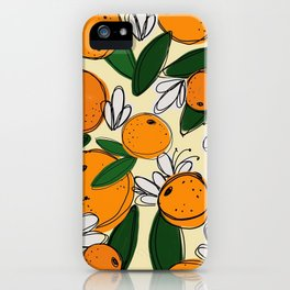 Oranges in Bloom iPhone Case