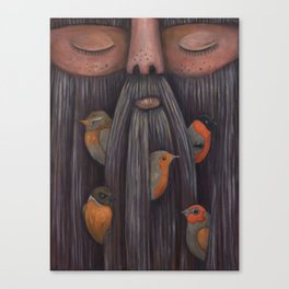 Rip Van Winkle with Birds Canvas Print