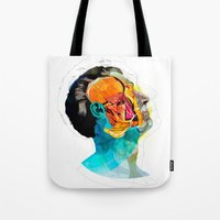 ford Tote Bags featuring Anatomy [Ellis+Ford] by Alvaro Tapia Hidalgo