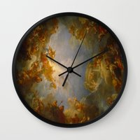 baroque Wall Clocks featuring Baroque by Tori Beretta