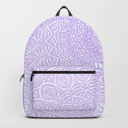 Purple Violet Mandala Design Extra Detailed Geometric Ethnic Tribal Pattern Backpack