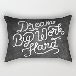 Dream Big Work Hard Rectangular Pillow