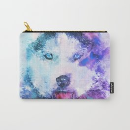 Watercolor Siberian Husky Carry-All Pouch