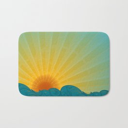Vintage Ocean Sunset Bath Mat