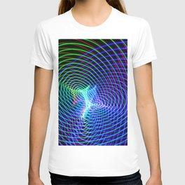 Rainbow Heart Vortex Light Painting T-shirt