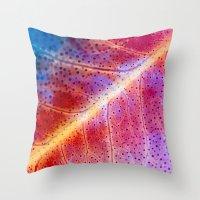 leaf Throw Pillows featuring leaf by Joao Bizarro