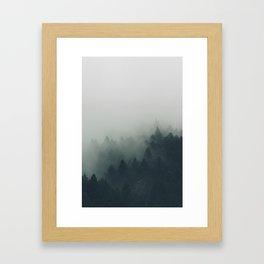 Dark Green Nature Framed Art Print