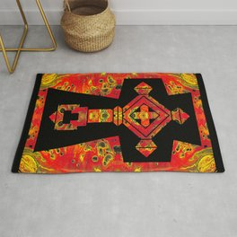 Cross of Ages in Red Rug