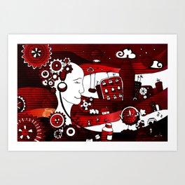 urban-city in a dream Art Print