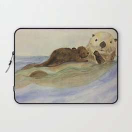 Mama and baby otters Laptop Sleeve