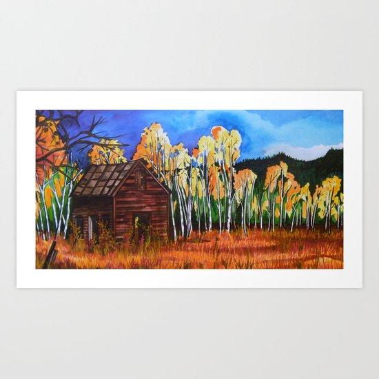 Aspens Glow Art Print