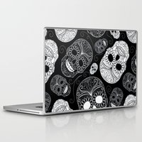 sugar skulls Laptop & iPad Skins featuring Sugar Skulls by Zen and Chic