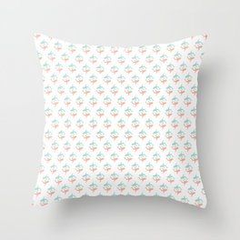 Beach ready shark pattern Throw Pillow