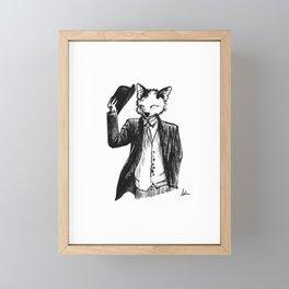 Dapper Fox Framed Mini Art Print