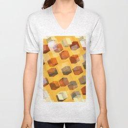 transparent cubes Unisex V-Neck