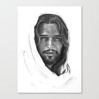 christ Canvas Prints featuring Christ by Caroline White