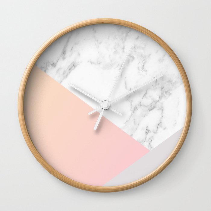 Marble Shapes Wall Clock