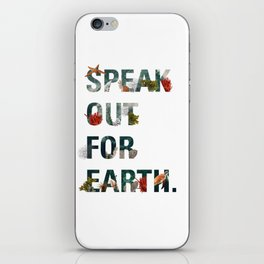 Speak Out for Earth! (Oceans) iPhone Skin
