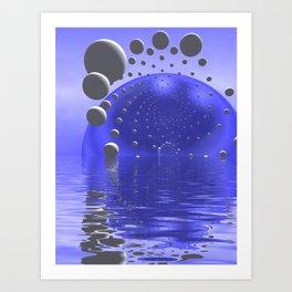blue sunrise in a strange world Kunstdrucke