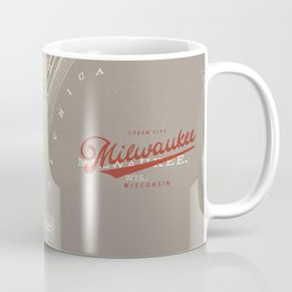 Milwaukee Map Coffee Mug