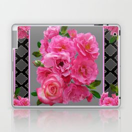 VICTORIAN STYLE CLUSTERED PINK ROSES ART Laptop & iPad Skin