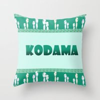 kodama Throw Pillows featuring kodama by Selis Starlight