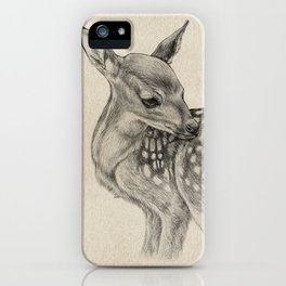 Animal Art | Deer Drawing | Nursery | Baby Room | Fawn | Bambi iPhone Case