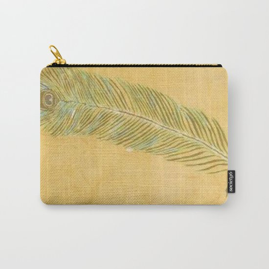 Peacock Batik Carry-All Pouch