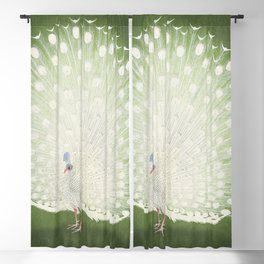 Peacock (1925 - 1936) by Ohara Koson (1877-1945) Blackout Curtain