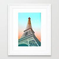 eiffel Framed Art Prints featuring Eiffel  by Ben Fischl