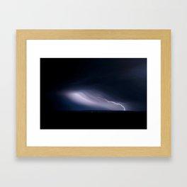 Lighting over Port Augusta Framed Art Print