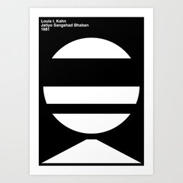 Architecture / Louis Kahn Art Print