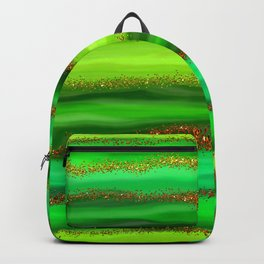 Green Watercolour Stripes Backpack